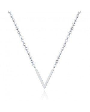 LGT Jewels Dames kertting met V Hanger Zilverkleurig