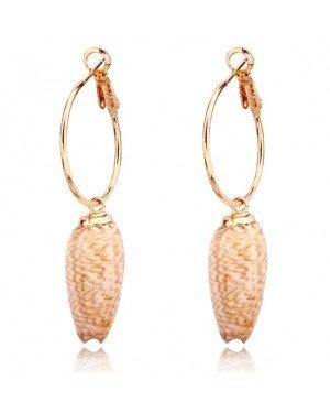 LGT Jewels Damesoorbellen met Gestrekte Schelp