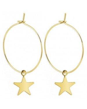 LGT Jewels Damesoorbellen met Grote Ring en Gouden Ster