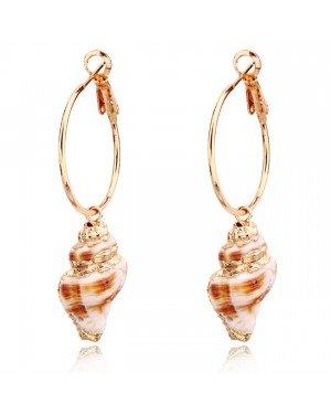 LGT Jewels damesoorbellen met Spiraalvormige Schelp