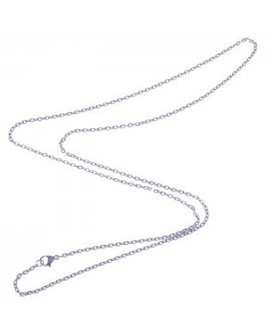 LGT Jewels Jasseron koord ketting Zilver 2mm