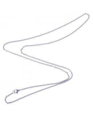 LGT Jewels Jasseron koord ketting Zilver 2mm