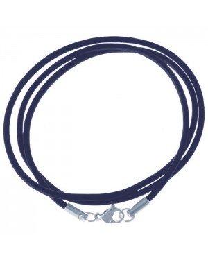 LGT Jewels leren koord ketting blauw 2mm