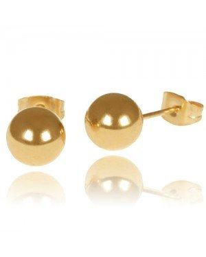 LGT Jewels Stud oorbellen Bol Goud
