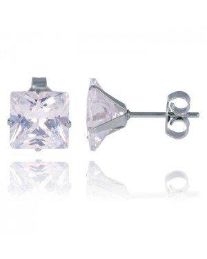 LGT Jewels Stud oorbellen Edelstaal Classic Transparent