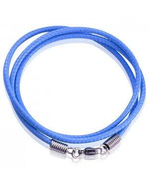 LGT Jewels waxkoord ketting Blauw- 2.5mm