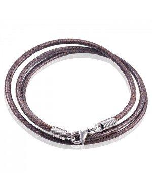 LGT Jewels waxkoord ketting Bruin - 2.5mm