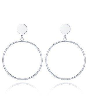 LGT Jewels Zilveren Damesoorbellen Cirkelvorm