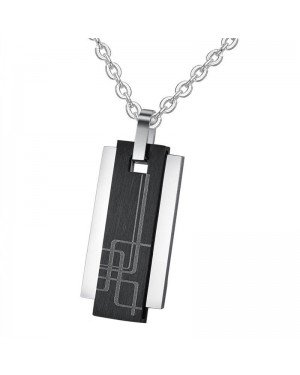 Luxe mannen kettinghanger Geometric Tag