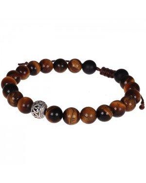 Memphis armband Tigereye Tibetaanse kraal