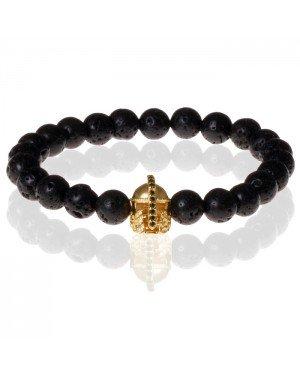 Memphis kralen armband Lavasteen Gladiator Gold