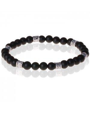 Memphis kralen armband Onyx Tibetaanse kraal