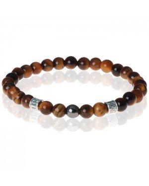 Memphis kralen armband Tigereye Tibetaanse kraal