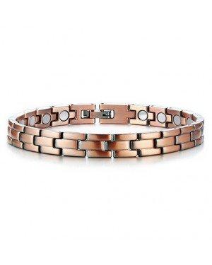 Mendes heren armband Edelstaal Magneten Brons