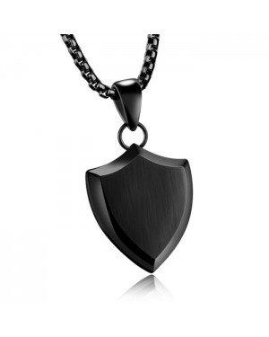 Mendes heren ketting met hanger Black Shield