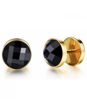 Mendes Jewelry Stud oorbellen Zircon Gold