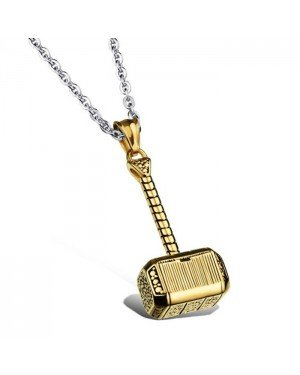 Mendes Jewels kettinghanger Hammer Of Thor Gold