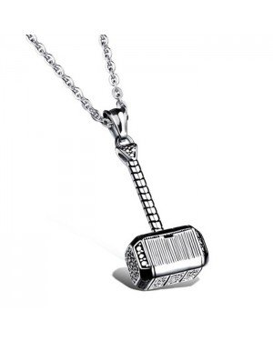 Mendes Jewels kettinghanger Hammer Of Thor Silver