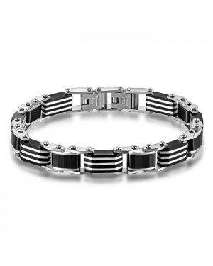 Mendes keramische armband Zwart Zilverkleurig