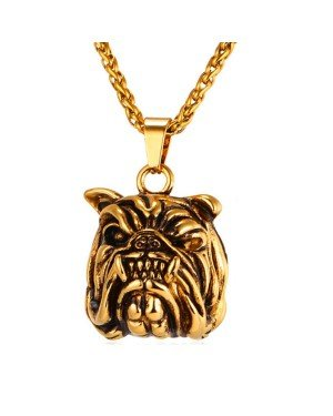 Mendes kettinghanger Bulldog Gold