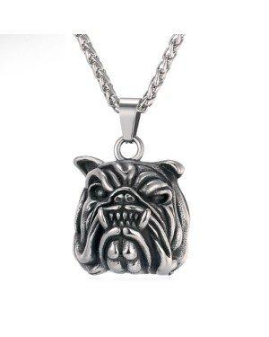 Mendes heren kettinghanger Bulldog Silver
