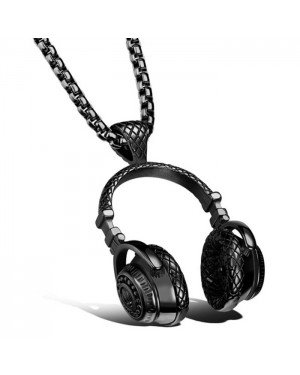 Mendes heren kettinghanger Headphone Black