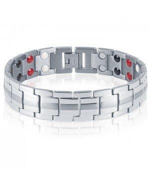 Mendes magnetische armband Titanium Silver
