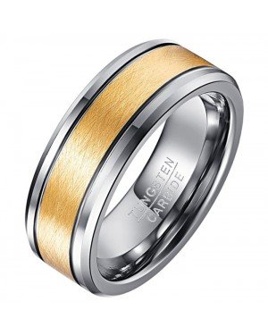 Mendes Wolfraam ring heren Gold Brushed