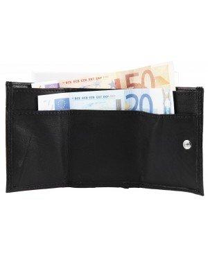 Mini portemonnee Leer Zwart Excellanc