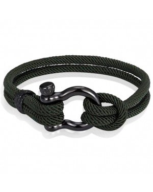 Nautische heren armband Paracord Edelstaal Anker Army