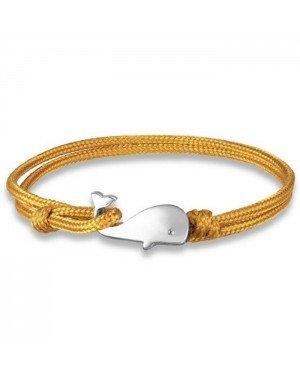 Parachute koord armband LGT Jewels Walvis Anker Geel