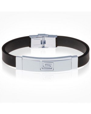 Siliconen heren armband RVS Element Greek