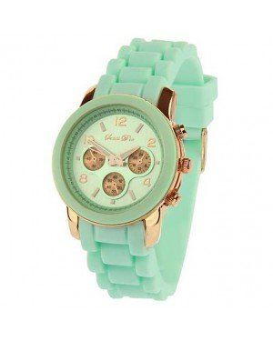 Souris D'or dames horloge Rose Mint