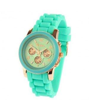 Souris D'or dames horloge Rose Turquoise