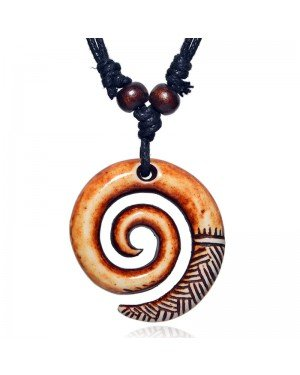 Spiral Swirl kettinghanger met Waxkoord
