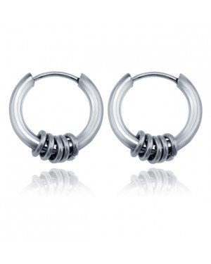 Stalen creolen Flexible Rings Silver