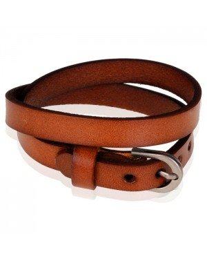 Stone Valley wrap armband Leer Verstelbaar Gesp Bruin