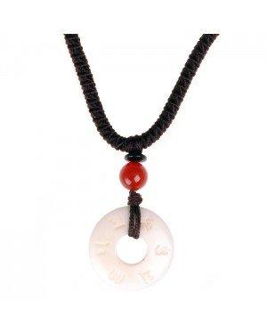 Tibetaanse touwketting met OM Bone Amulet