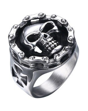 Edelstaal Skull ring Mendes Jewelry