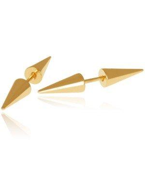 Titanium Stud oorbellen Spikes Goud