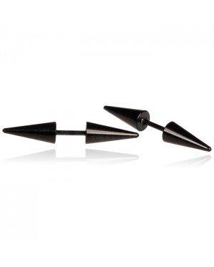 Titanium Stud oorbellen Spikes Zwart
