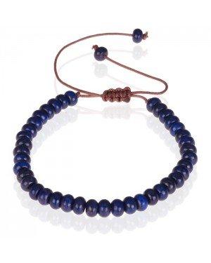 Tom Jaxon kralen armband Lapis Lazuli Natuursteen Verstelbaar Blauw