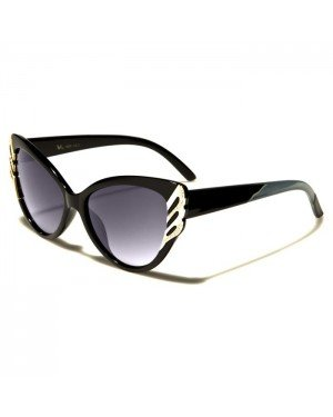 VG Eyewear Cat Eye zonnebril Zwart Grijs Goud VG1825