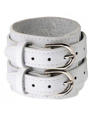 Witte leren armband gesp sluiting