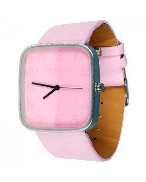 Womage Fashion horloge Square Pink