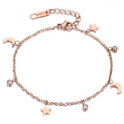 Cilla Jewels Dames Armband Moon and Stars met Zirkonia Rose