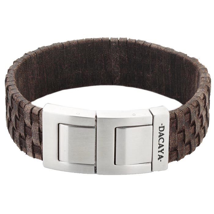 Dacaya armband Mud Max Coconut Brown 20mm F111220