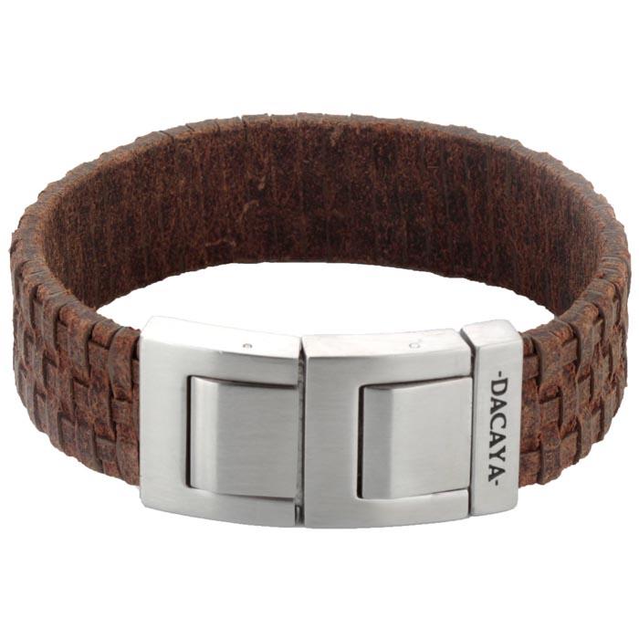 Dacaya armband Mud Max Light Brown 20mm F111320