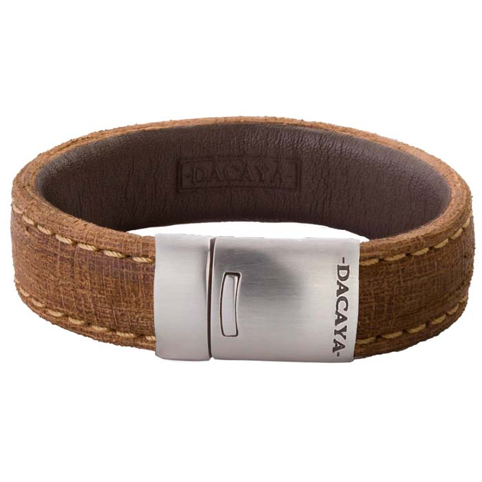 Dacaya armband Wood Log Camel 20mm F115320