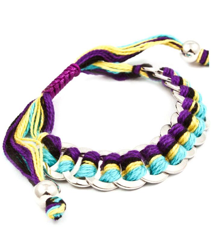 Dames armband Woven Cords Multicolor